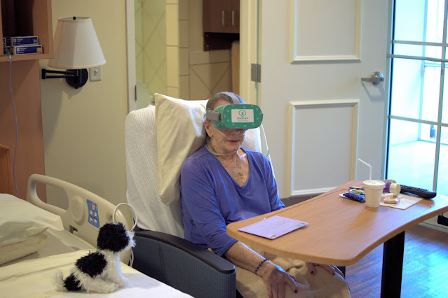 Peggy Evans tries Virtual Reality