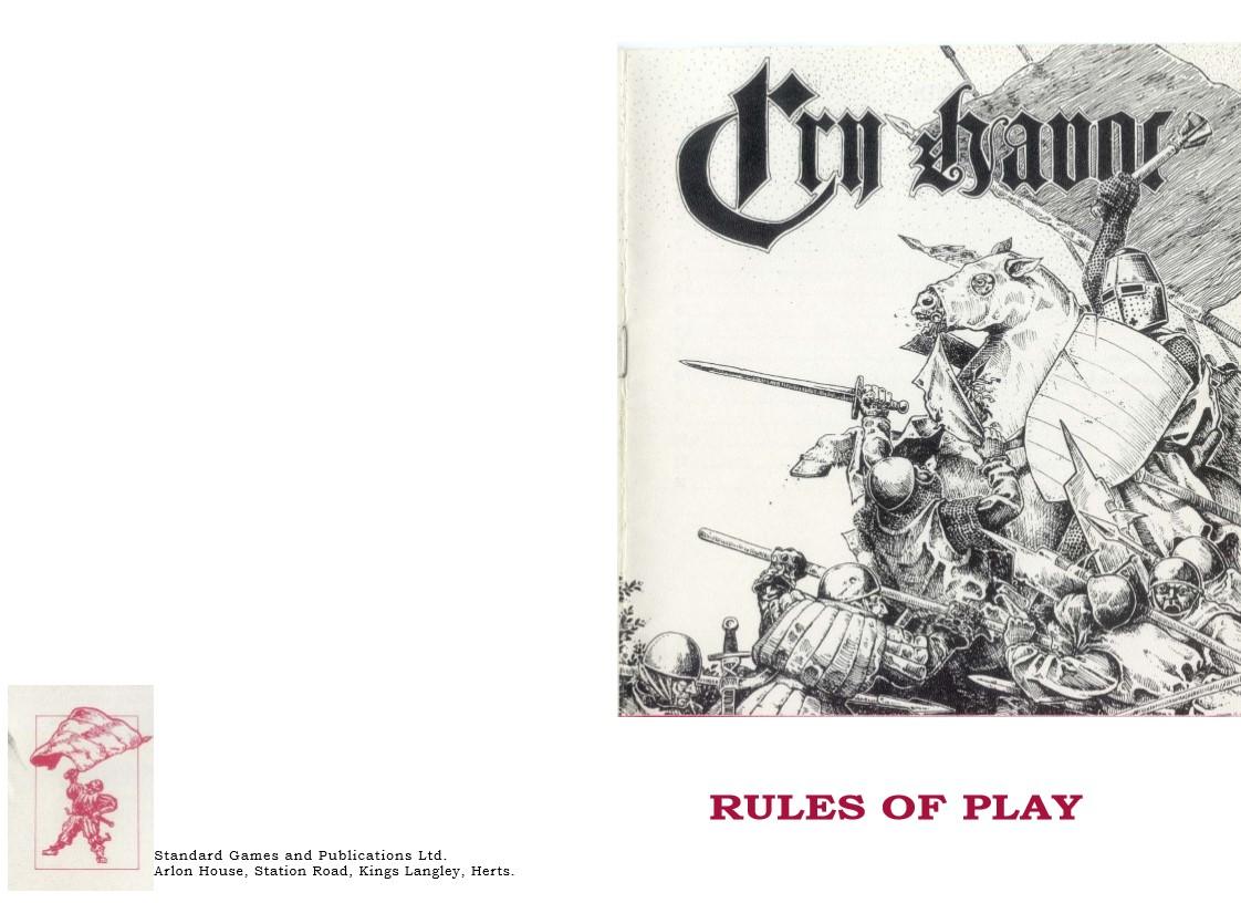 oldSarges Wargame and Model blog: Cry Havoc rules
