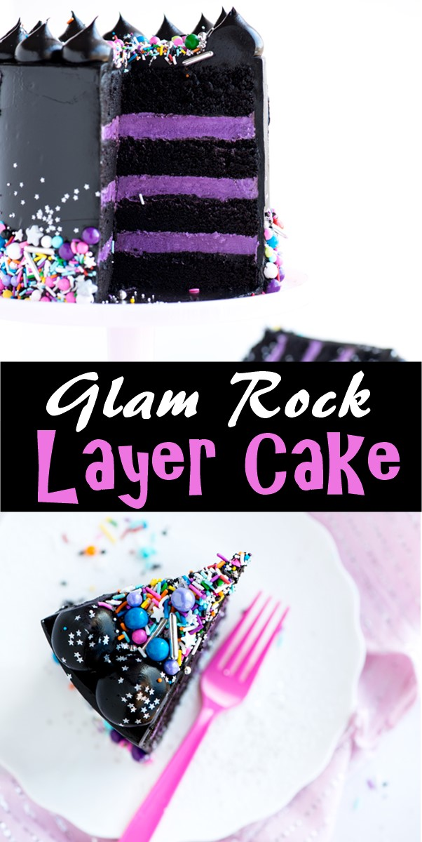 Glam Rock Layer Cake #cakerecipes