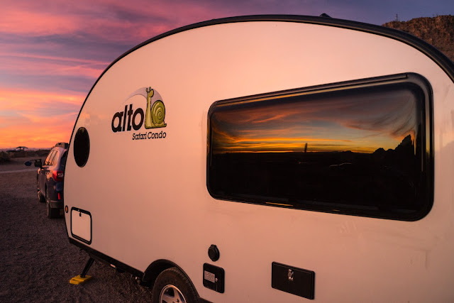 New Mexico; tiny trailer camping; Safari Condo Alto