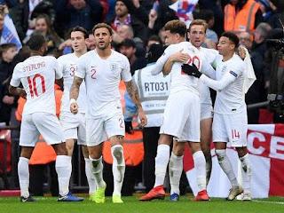 نتبجه مشاهدة مباراة انجلترا والجبل الاسود اليوم 25-3-2019 تصفيات كاس امم اوروبا 2020 انتهت بفوز انجلترا 5 - 1