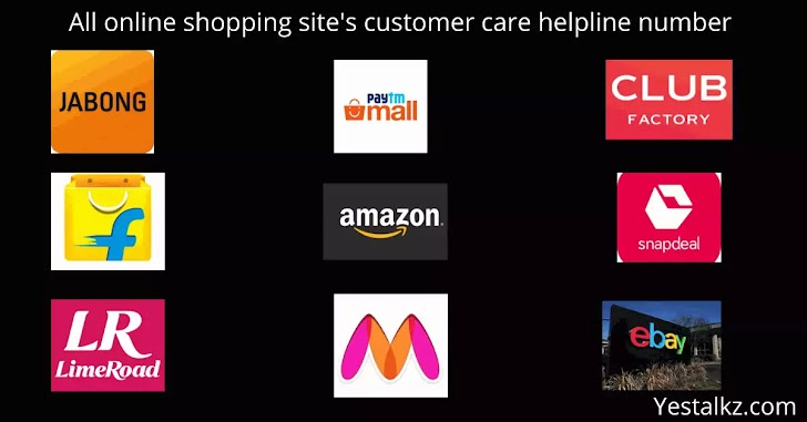 All online shopping site's customer care helpline number