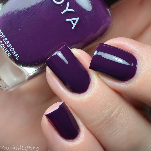 purple creme nail polish