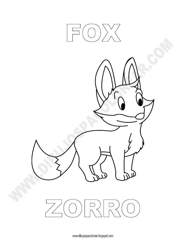 Dibujos Inglés - Español con Z: Zorro - Fox