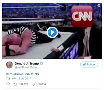 donald trump tweets wrestlemania take down cnn