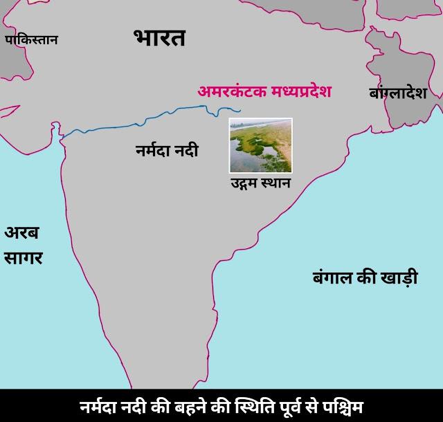 नर्मदा नदी का उद्गम स्थल है - narmada nadi ka udgam sthal