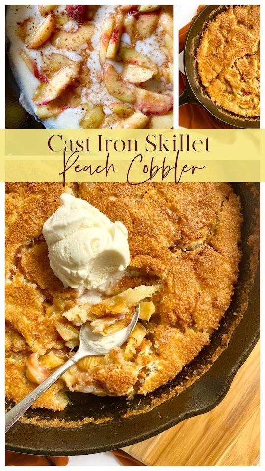 Cast Iron Skillet Peach Cobbler