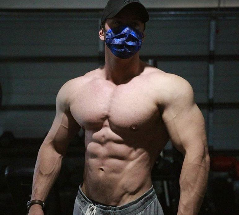 big-beefy-bare-chest-muscle-man-huge-pecs-strong-arms-face-mask