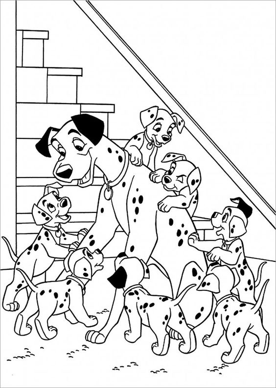 Dogs coloring pages 50