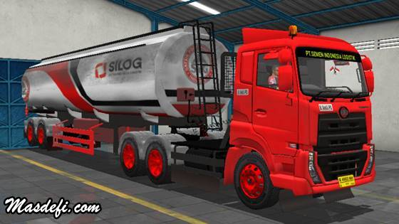 livery truck ud quester trailer tangki silog