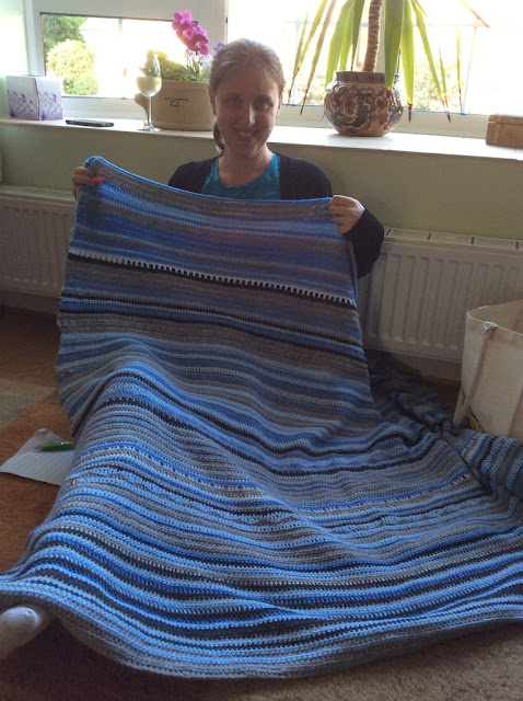 Working on a large Sky Blanket