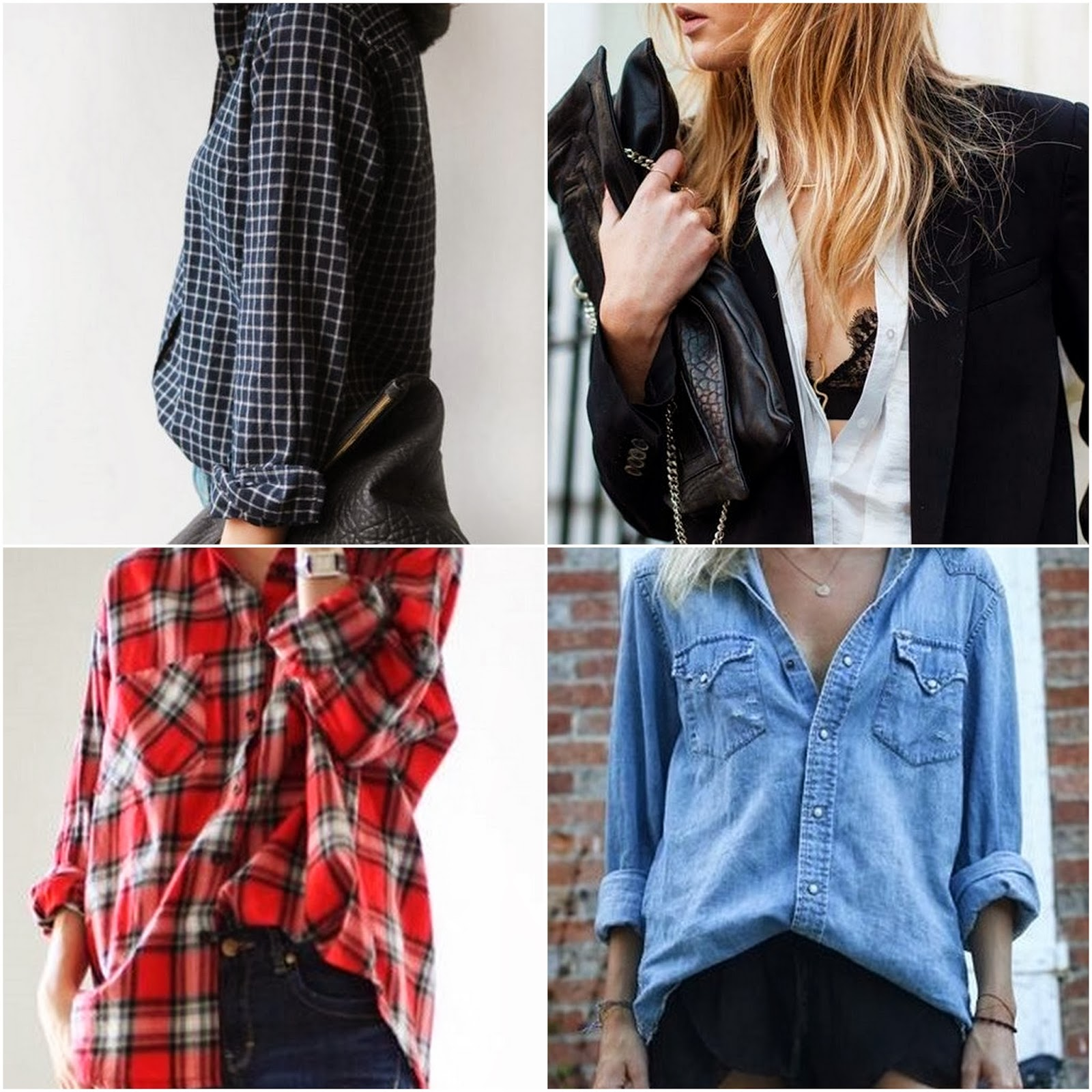 denim shirt plaid shirt