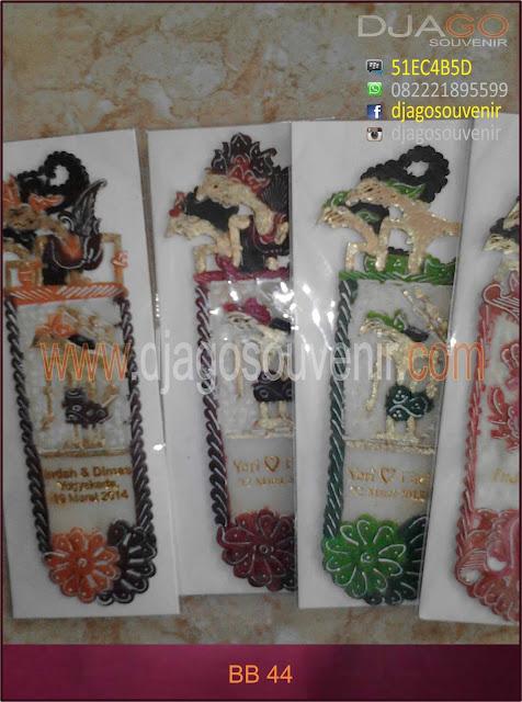 Souvenir Grosir Murah Pembatas Buku dari kulit sisa pembuatan wayang
