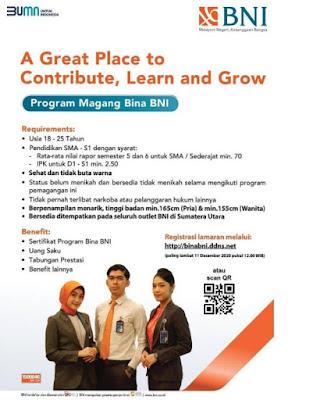 Program Magang Bina BNI Wilayah Medan