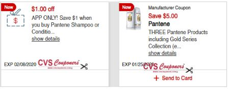 cvs pantene coupons
