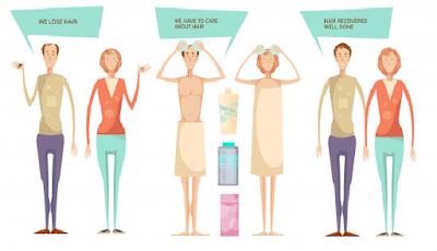 5 Penyabab Rambut rontok atau  botak  baik itu pada wanita ataupun peria