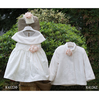 christening winter dress with fur