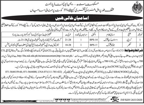 Women Development Department Government of Sindh Job Advertisement in Pakistan 2021 - 2022