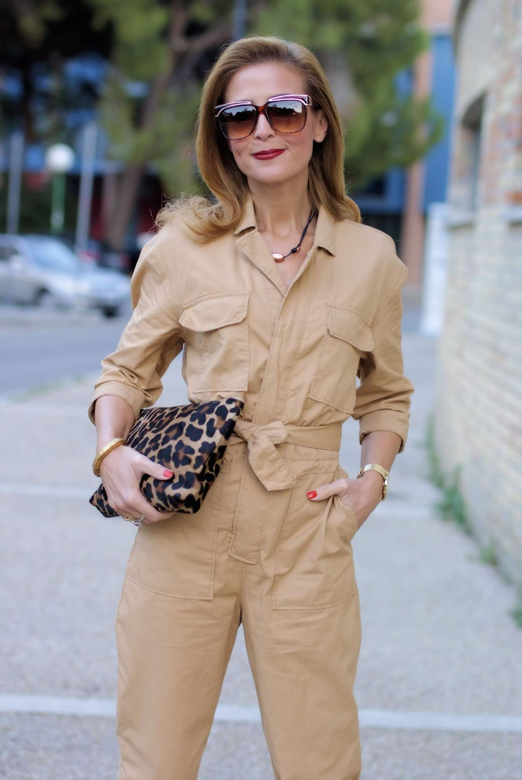 How to wear: the utility jumpsuit trend on Fashion and Cookies fashion blog, fashion blogger style