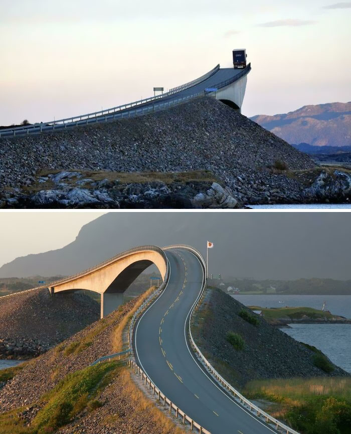 Storsezandet bridge in Norway