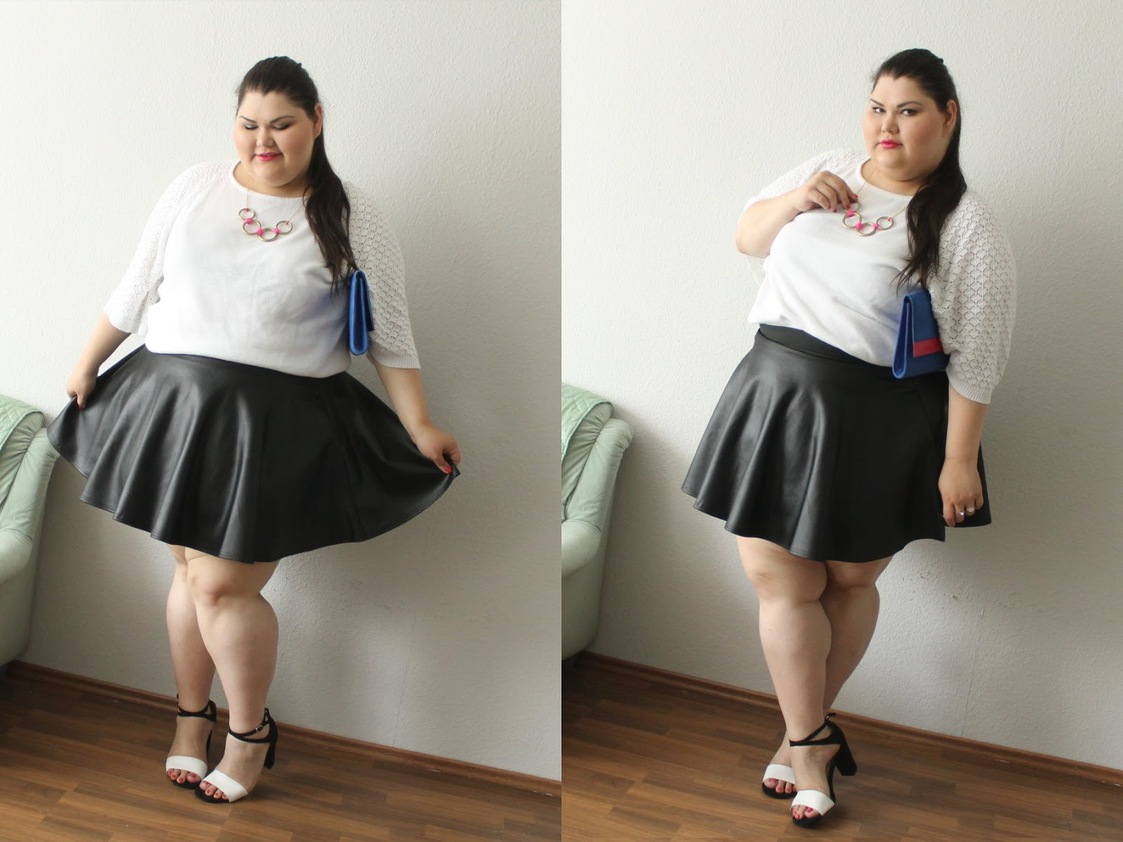Outfit Mit Lederrock Femme Fatale: Fashion, Omcz; Outside My Comfort Zone