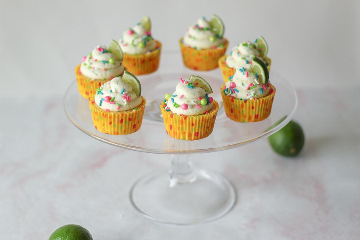Peach Margarita Cupcakes