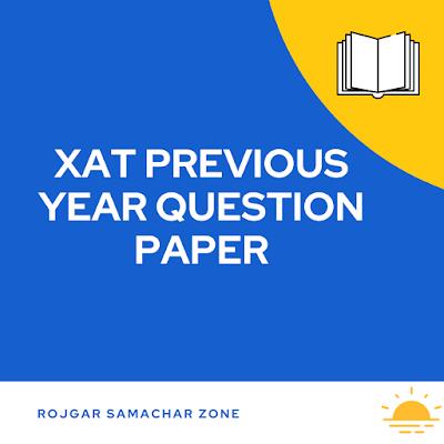 XAT exam previous question paper pdf