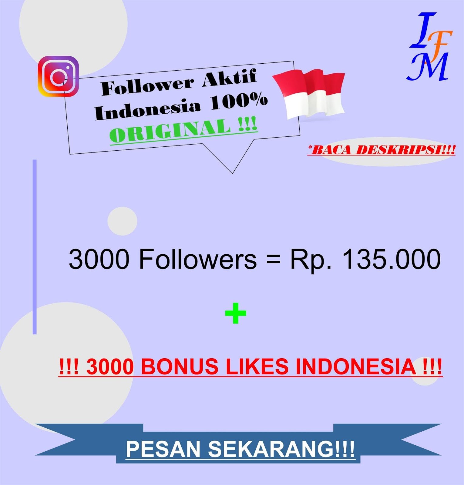 Jasa Tambah 3000 Follower Real Instagram Aktif 100% Akun Original Indonesia Murah