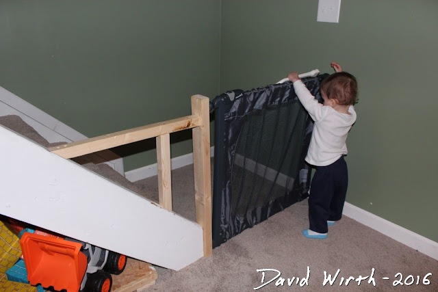 angled stairs baby gate, mount to wall, tight