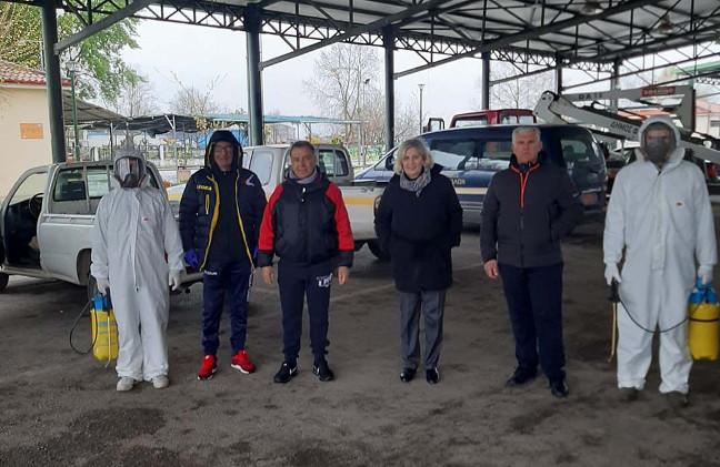 Ολοκληρώθηκε η απολύμανση και των χωριών στο δήμο Φαρσάλων