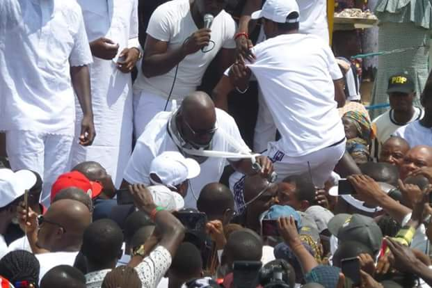 """Photos of """"Injured"""" Governor Fayose addressing Ekiti people at the Government House  Photos:""""Injured"""" Governor Fayose addresses Ekiti people at the Government House FB IMG 1531322528741"""