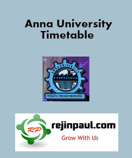 Regulation 2017 1st Semester Time Table Jan 2018 UG PG Anna University