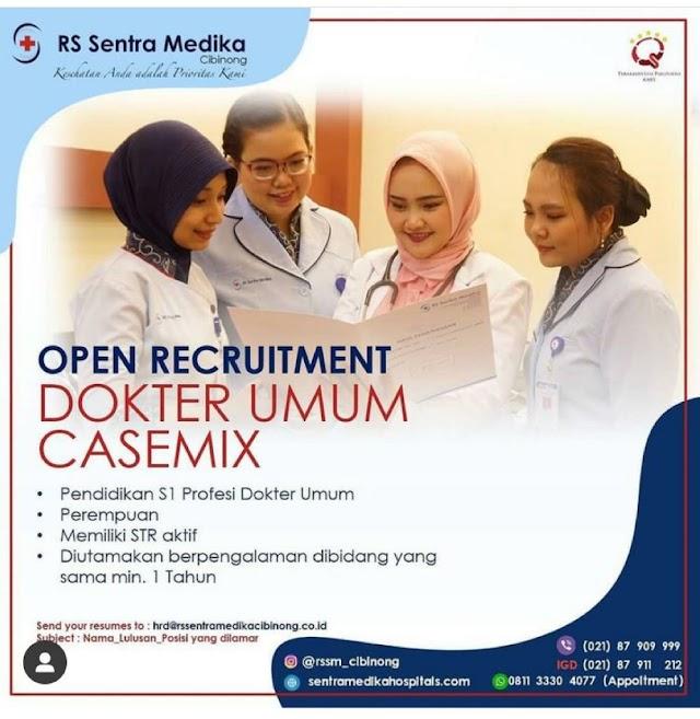 Loker Dokter Umum Casemix RS Sentra Medika Cibinong