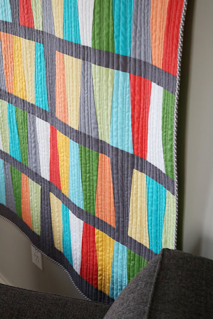 Fab Five Quilt - made by Andy of A Bright Corner.  She used the Fab Five Ruler to make this fun and easy quilt.