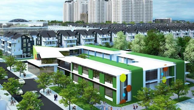 Trường học tại khu đo thị Thanh Hà