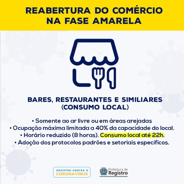Registro-SP permanece na fase amarela do Plano São Paulo e edita novo decreto