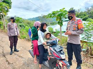 Personel Polsek Malua Laksanakan Operasi Yustisi Untuk Tekan Penyebaran Virus Covid 19 di Tengah Masyarakat