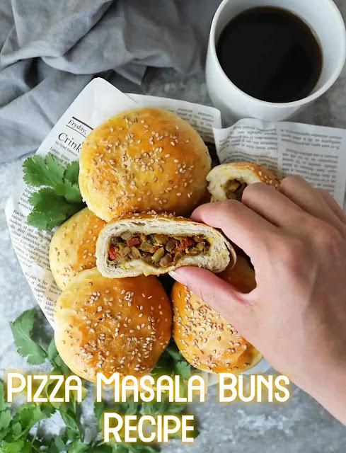 Easy to make Pizza Masala Buns Recipe