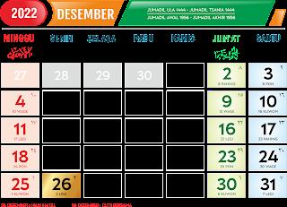 Kalender Desember 2022