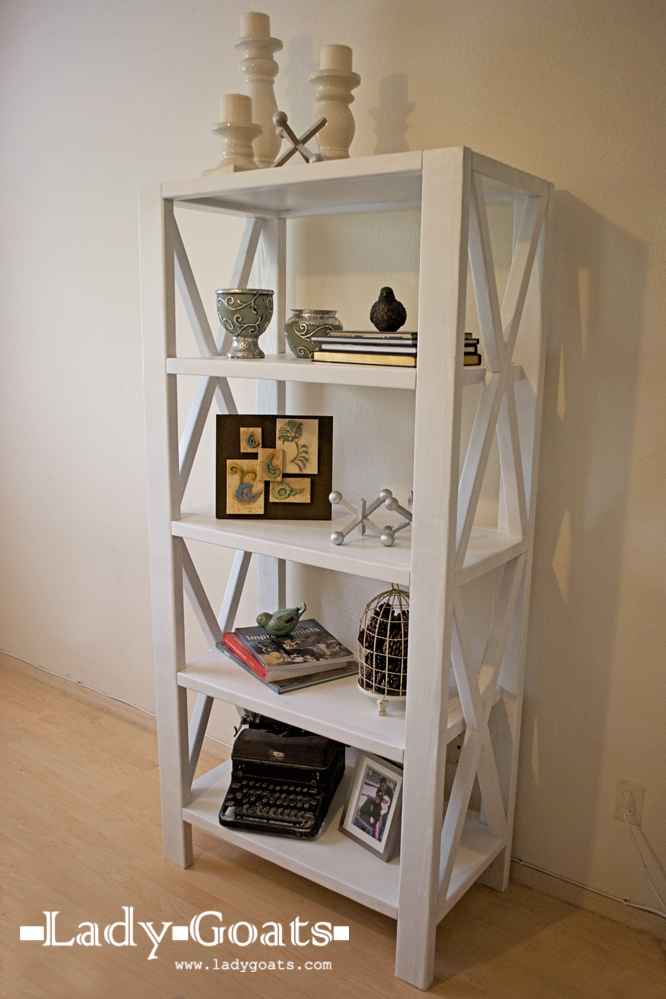 Ana White Leaning Shelf Plans PDF Woodworking