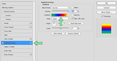 Membuat tulisan berwarna di photoshop dengan cara yang paling mudah.