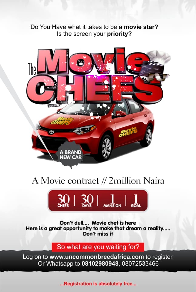 Movie Chefs Reality Show Commence Registration With Amazing Star Prizes For Winners
