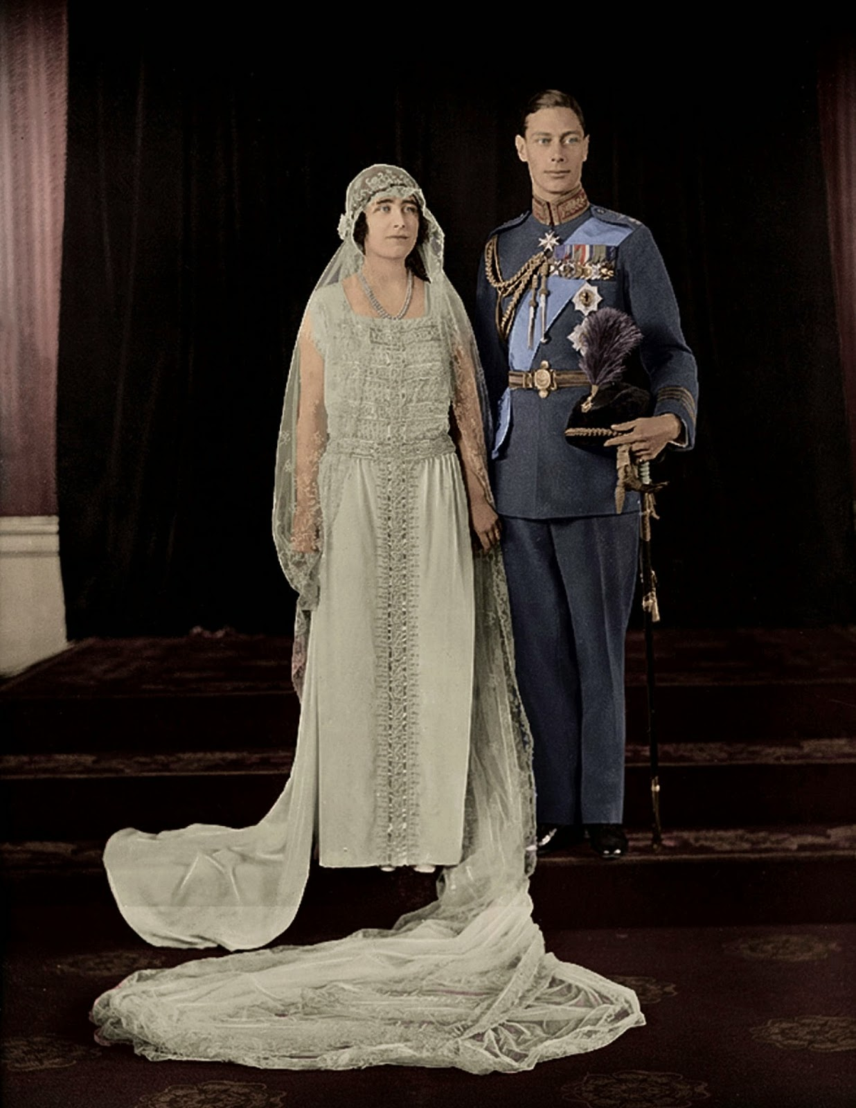 Duke and Duchess of York wedding day 1923