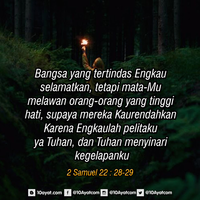 2 Samuel 22 : 28-29