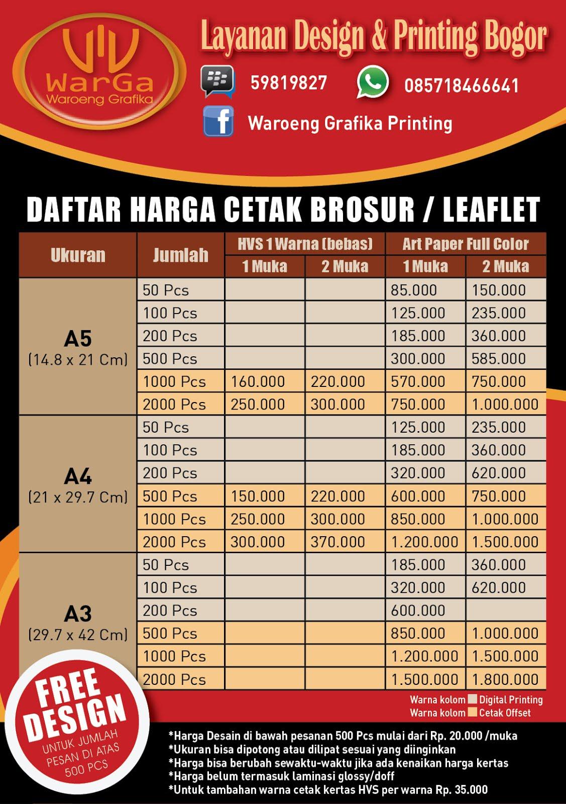 Waroeng Grafika: Desain & Cetak Brosur Murah Bogor