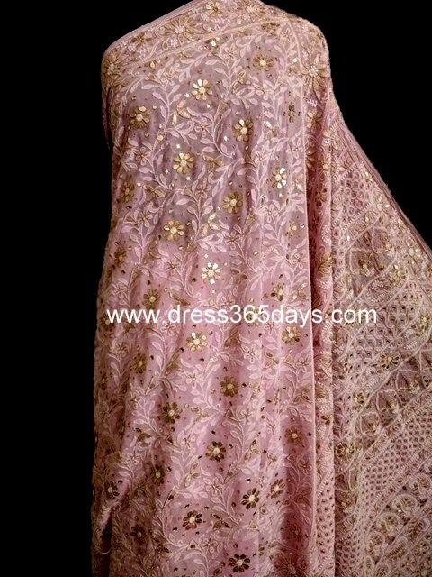 Pink Heavy Pallu