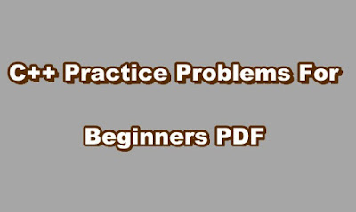 C++ Practice Problems For Beginners PDF