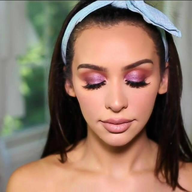 V Day Makeup Carli Bybel Purple Eyes Alittlekiran