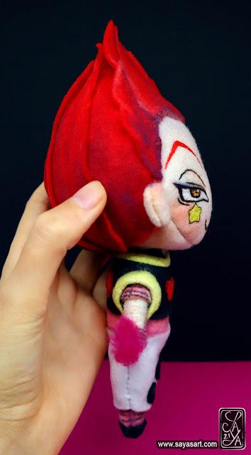 hisoka morow hunter x hunter hxh saya's art figurine peluche plush felt feutrine doll poupée fanart goodies