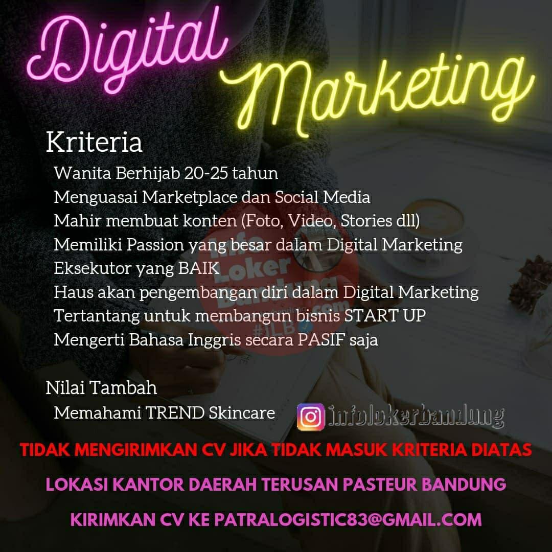Lowongan Kerja Digital Marketing Patra Logistic Bandung April 2021